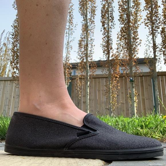 Vans Lo Pro Glitter Slip On Shoe